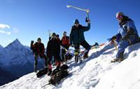 Auf dem Gipfel des Lobuche East, 6119 m, in Nepal
