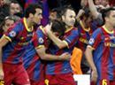 Jubeln: Die Akteure vom FC Barcelona.