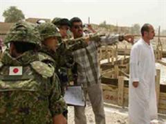 Die japanischen Soldaten halfen bei der Wasserversorgung und der Gesundheitsfürsorge im Irak.