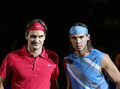 Roger Federer (SUI) und Rafael Nadal (ESP).