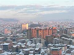Blick auf Pristina.