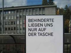 Gestoppt: Plakat-Kampagne der IV.