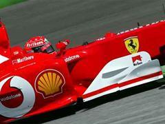 Michael Schumacher im Ferrari.
