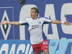 Rafael van der Vaart traf per Foulpenalty für den Hamburger SV. (Archivbild)
