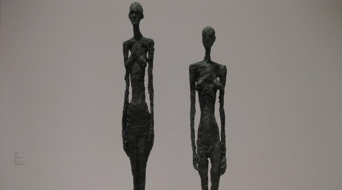 Kunstwerke von Alberto Giacometti.