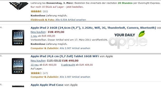 Screenshot des Amazon-Angebots.