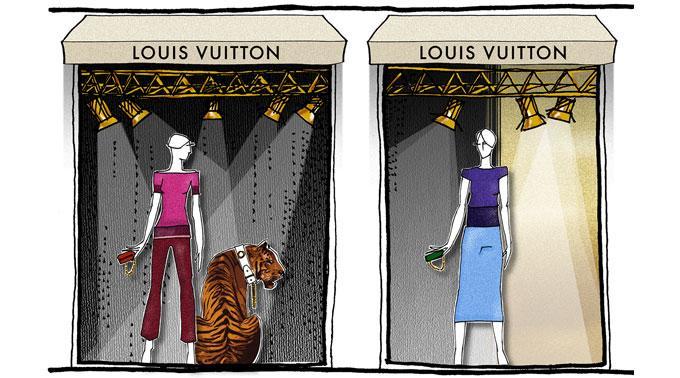 Illustration des Louis Vuitton Pop up Stores zum Cannes Filmfestival 2011.