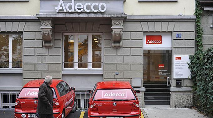 Adecco kämpft mit starkem Umsatzrückgang