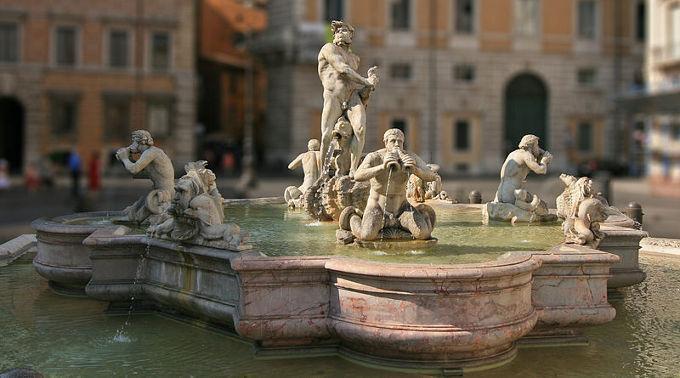 Der «Fontana del Moro» auf der Piazza Navona in Rom.